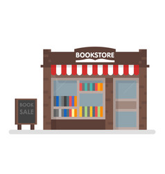 Bookstore front vector