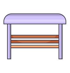 bus stop icon cartoon style vector image