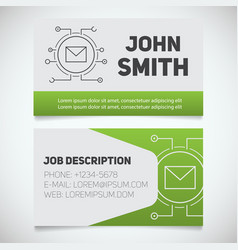 Business card print template with letter logo vector