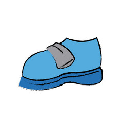 Cartoon blue sneaker sport shoe vector