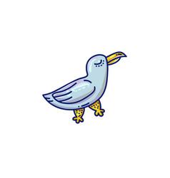 cartoon seagull icon vector image