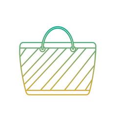 cartoon striped beach bag accessory vector image