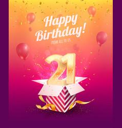 celebrating 21 st years birthday vector image