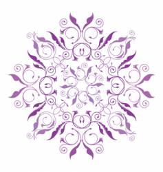 Classical floral pattern vector