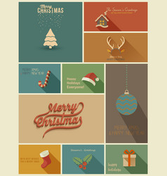 collection holidays cards vector image