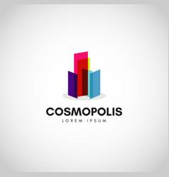 colorful city property cosmopolitan logo vector image