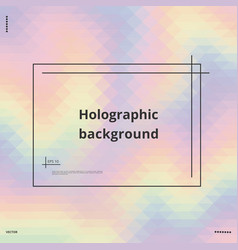 Colorful holographic background vector