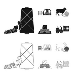 Cotton coil thread pest and other web icon in vector