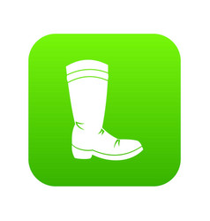 cowboy boot icon digital green vector image