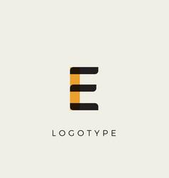 creative letter e for logo and monogram minimal vector image