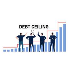 Debt ceiling limit loan bankruptcy diagram vector