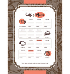 delicious coffee - color hand drawn composite vector image