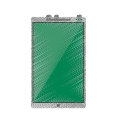 Drawing green screen smartphone mobile vector