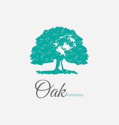Family tree life stamp seal emblem oak banyan l vector