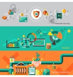 Finance banner set vector image