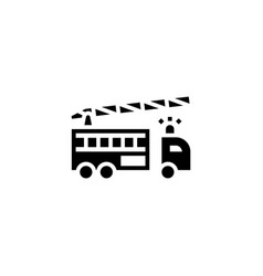 fire engine icon solid vehicle and transportation vector image