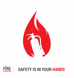 Fire prevention design with creative style vector