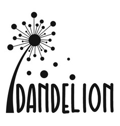 Forest dandelion logo icon simple style vector