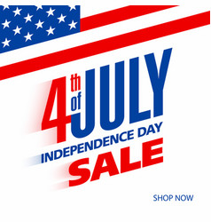 Fourth of july usa independence day sale banner vector
