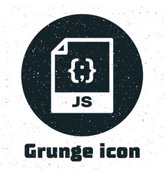 Grunge js file document download js button icon vector