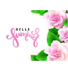 hand lettering - hello vector image