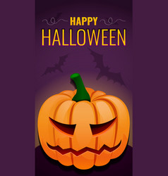 happy halloween concept background cartoon style vector image