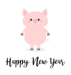 happy new year pig pink piggy piglet chinise vector image