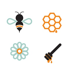 Honeybee And Supplies vector