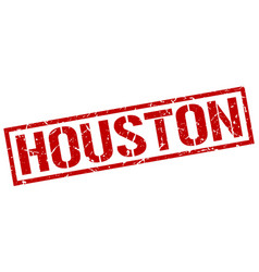 Houston red square stamp vector