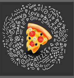 icon of pizza margarita classic italian vector image