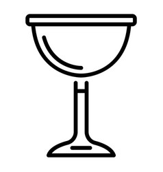 jewish wine cup icon outline style vector image
