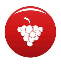 Mellow grape icon red vector