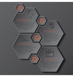 Modern template infographics design vector