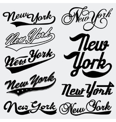 New York typography vector
