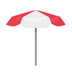 Open umbrella parasol on white background vector