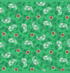 Paisley green mesh pattern seamless vector