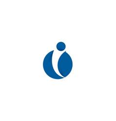 people letter i logo icon design vector image