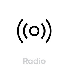 radio icon editable outline vector image