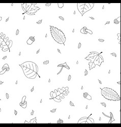 Seamless pattern of atumn elements vector