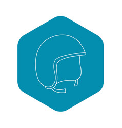 Segway helmet icon outline style vector