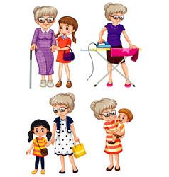 Set grandmother character vector
