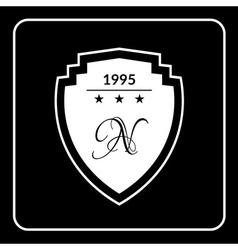 shield emblem flat vector image