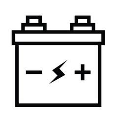 simple black flat accumulator icon lightning bolt vector image