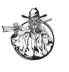sketch robot cowbow vector image