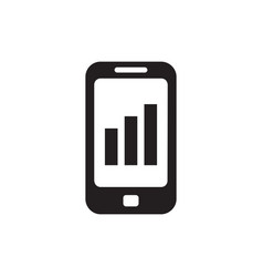 smartphone with exchange market graphic - black vector image