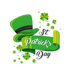 St patrick day with top hat vector