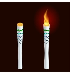 torch fire championship icon a symbol victory vector image