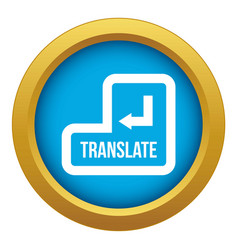 Translate button icon blue isolated vector