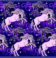 unicorns vector image