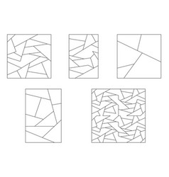 unusual abstract blank jigsaw puzzles set simple vector image